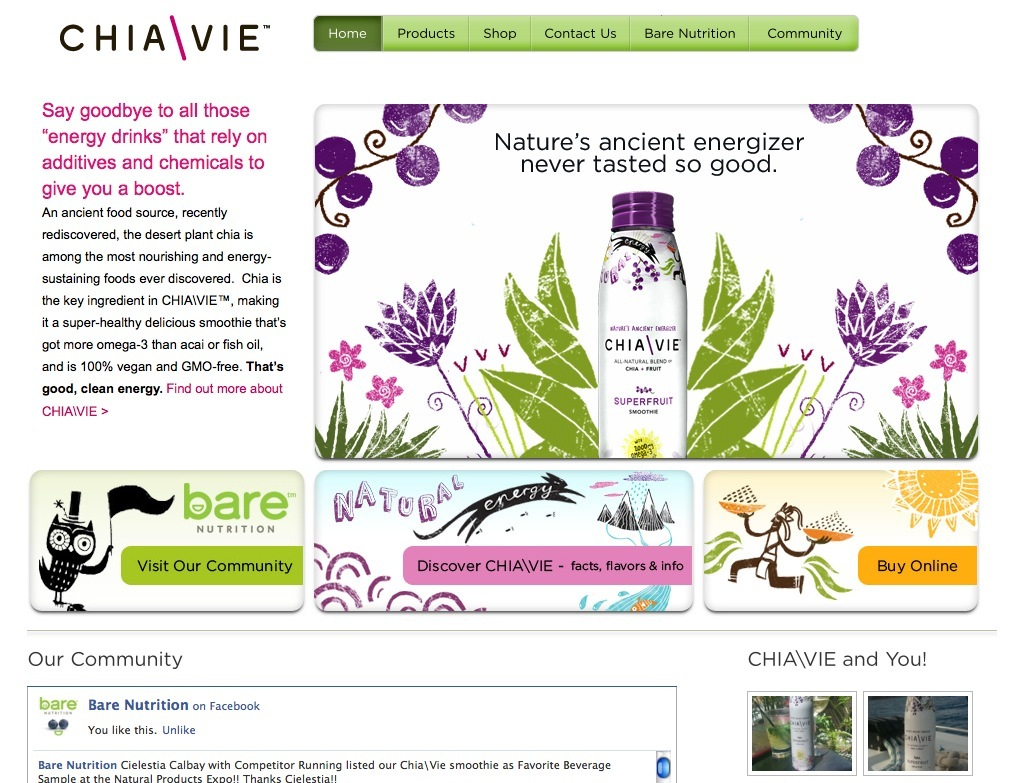 Chia Vie - Energy Drink Website