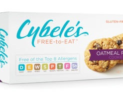 Cybele's Free to Eat Allergen Friendly Cookies Packaging - Oatmeal Raisin