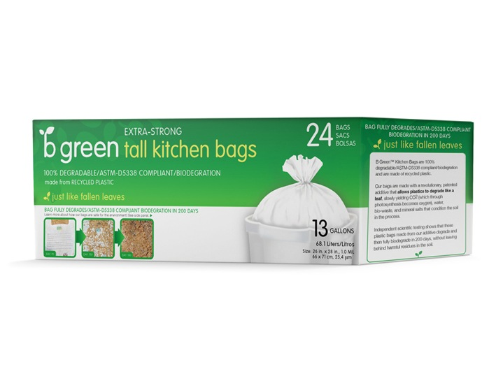 B Green Tall Kitchen Bags Package Design
