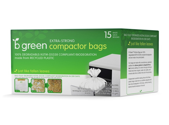 B Green Compactor Bags Package Design