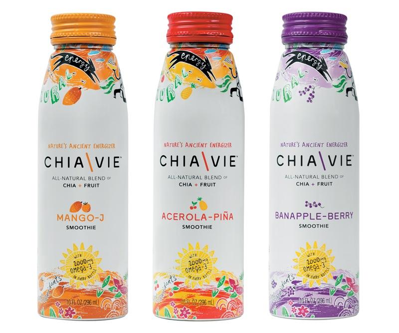 Chia Vie Beverage Packaging - All Flavors