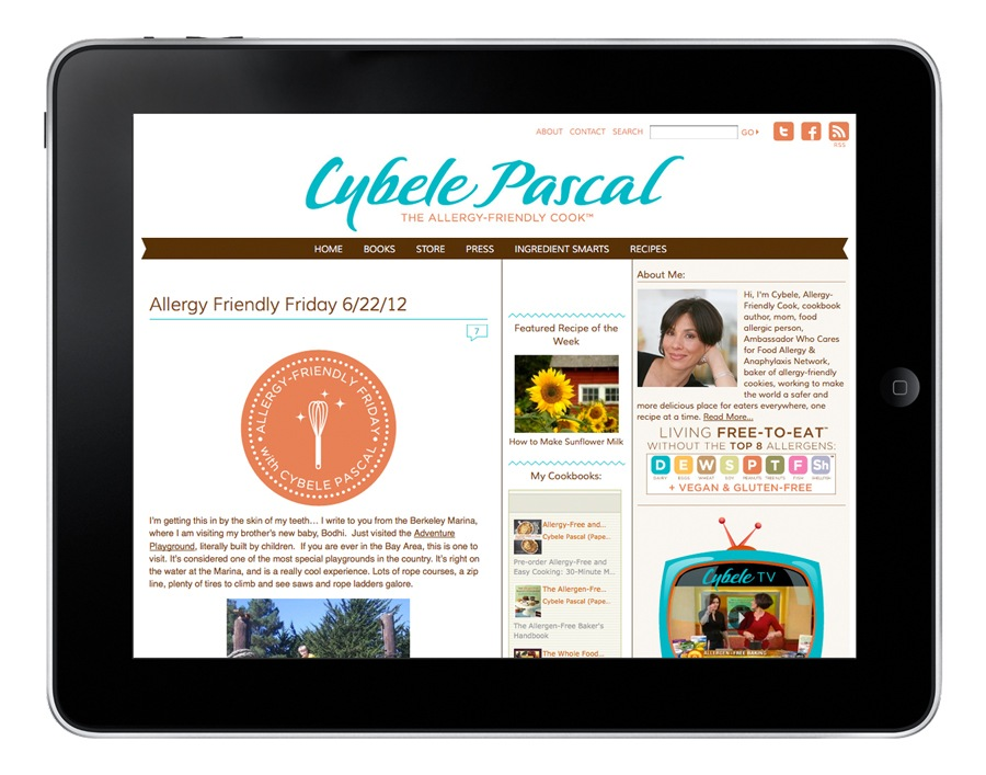 Cybele Pascal blog redesign.