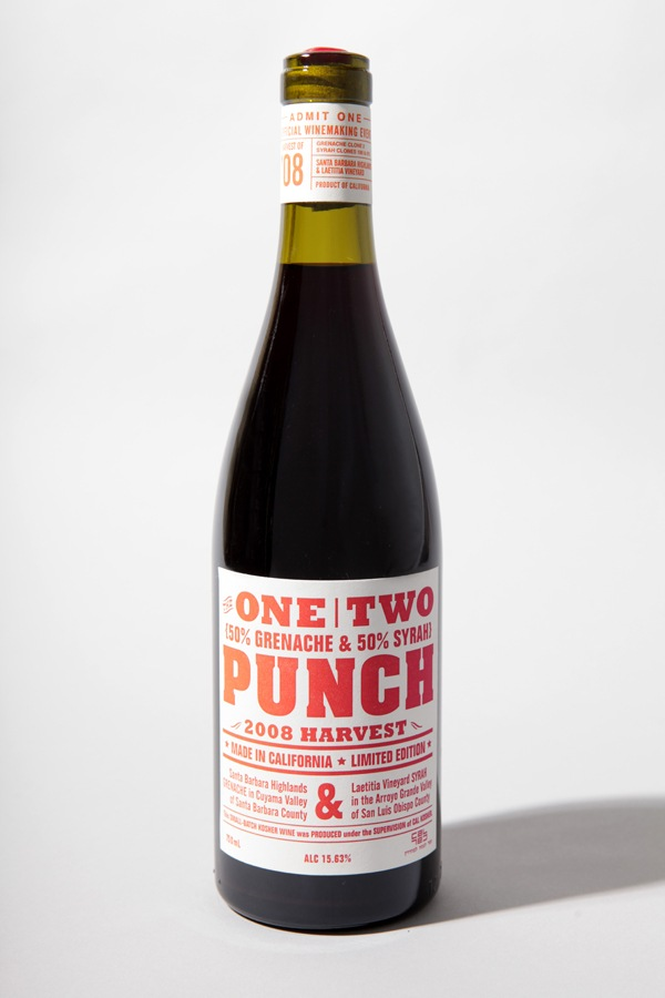 One Two Punch Wine Label