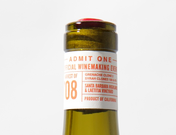 One Two Punch Wine Label - Neck Band
