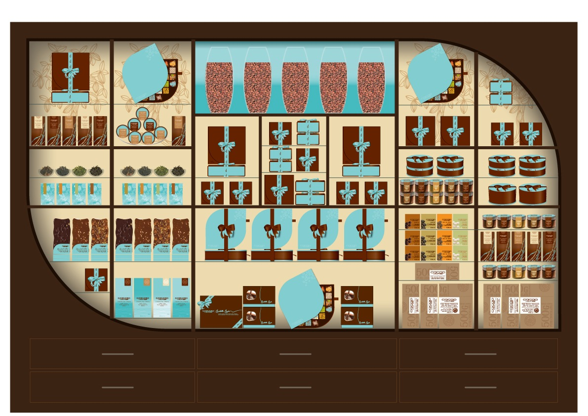 Cacao Lounge - Retail Planogram