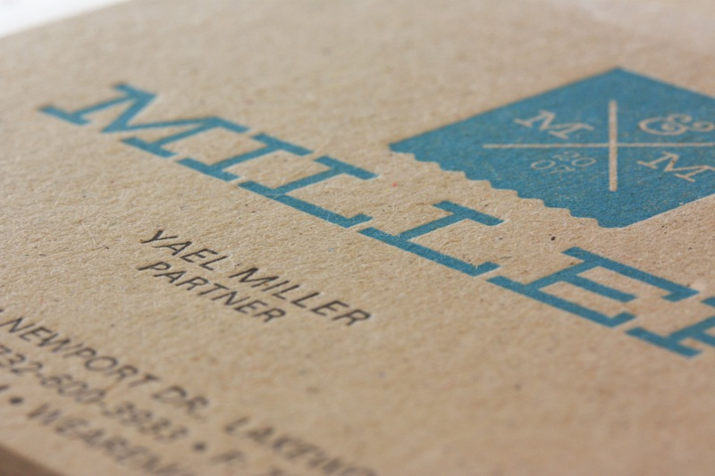 Miller Creative Business Cards - Closeup