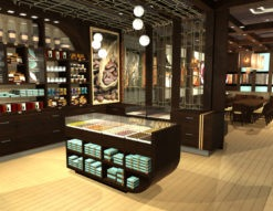 Cacao Lounge - Interior Branding Retail Shelves