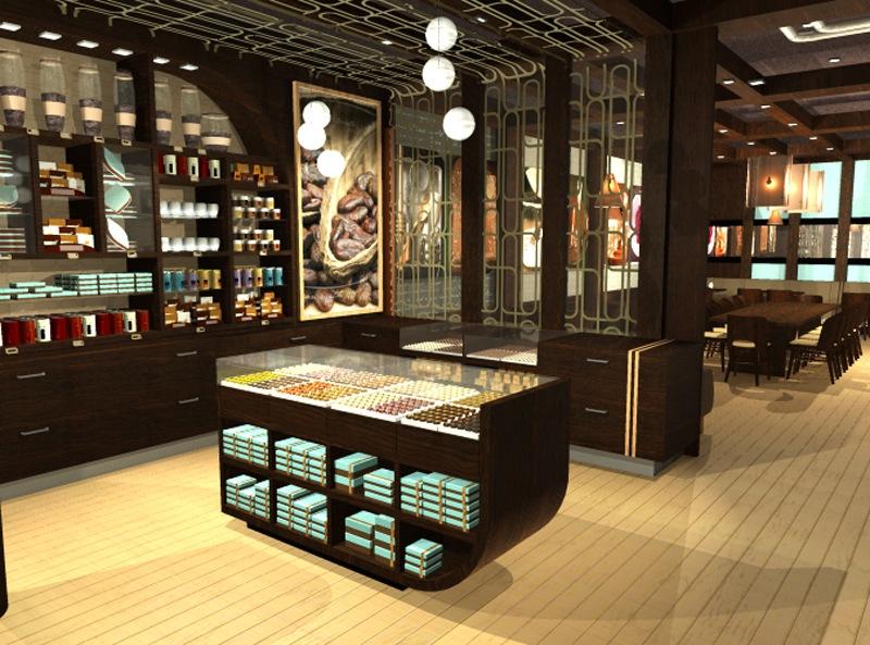 Cacao Lounge - Interior Branding Retail Shelves
