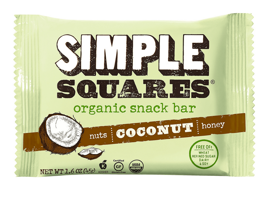 simple squares coconut wrapper with custom illustration
