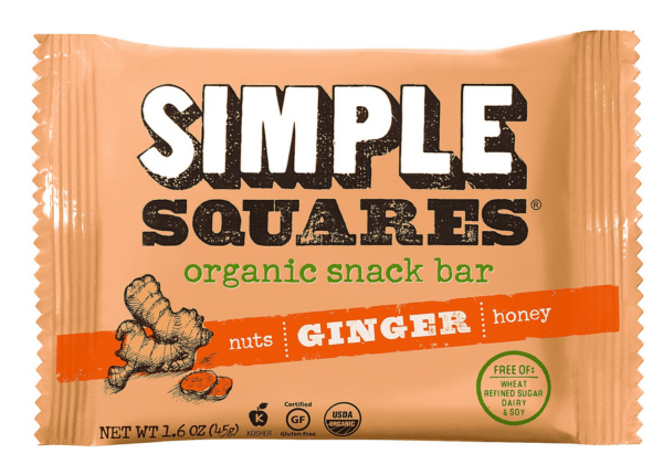 simple squares ginger wrapper with custom illustration
