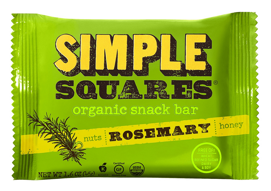 simple squares rosemary wrapper with custom illustration