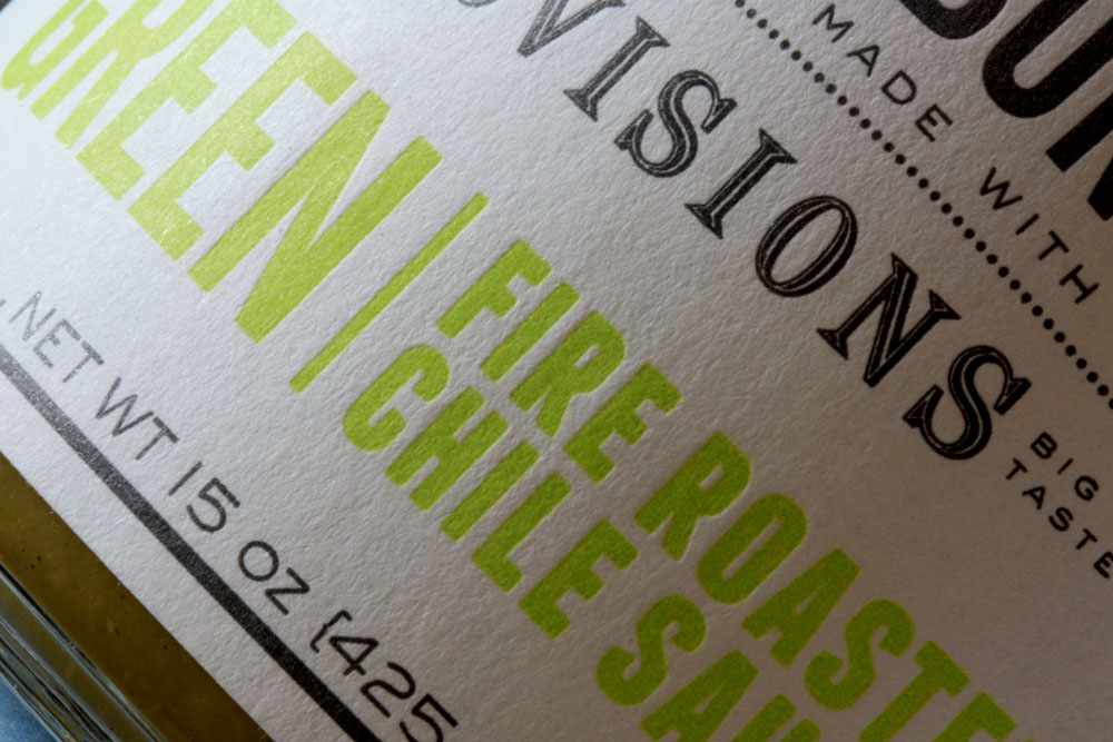 Close-up detail showing letterpress texture.