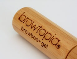 Close-up detail of the laser engraved bamboo tube