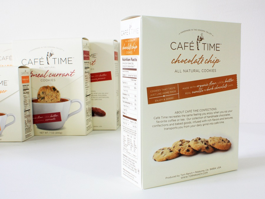 Cafe Time Cookie Branding & Packaging - Back of Package
