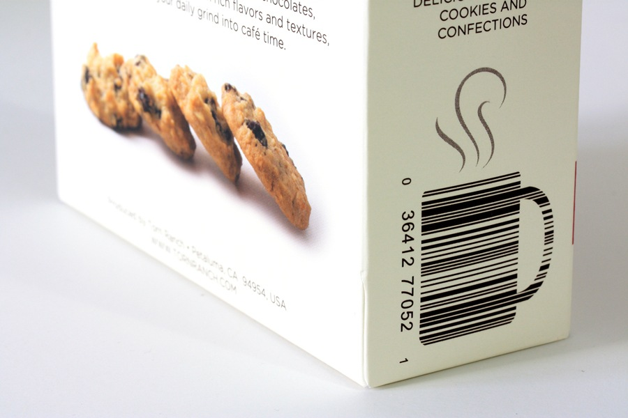 Cafe Time Cookie Branding & Packaging - Vanity Barcode