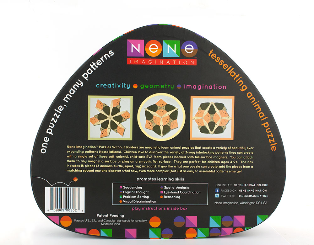 Nene Imagination Toy Packaging - Black Back of Box