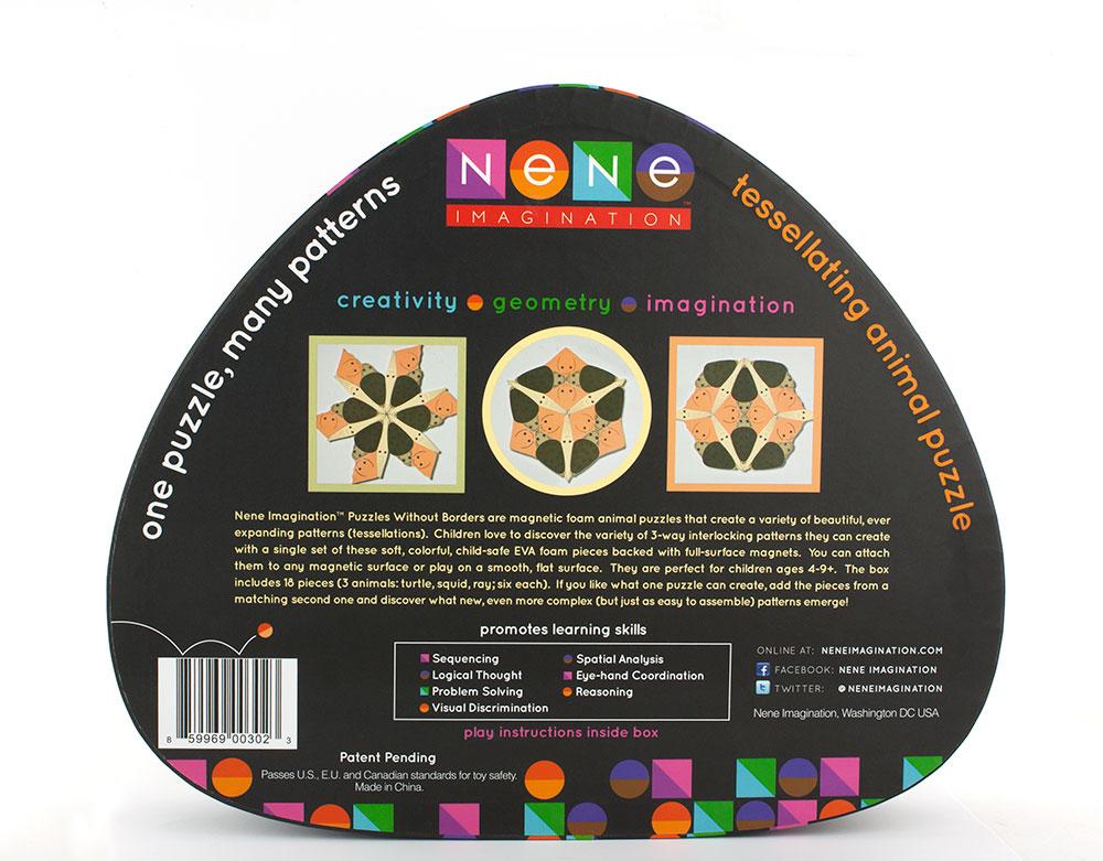 Nene Imagination Toy Packaging - Black Back of Box