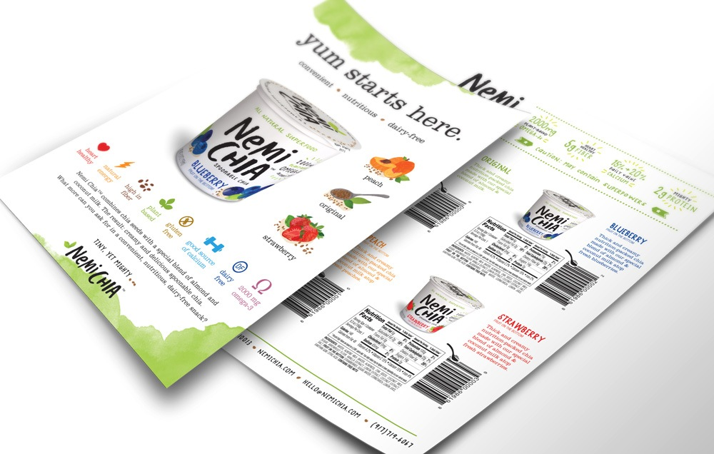 NemiChia Sales Sheet Design
