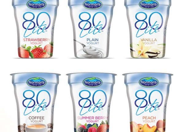 Branding and Packaging Design, 80 Lite Low Calorie Yogurt