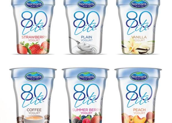 Branding and Packaging Design, 80 Lite Low Calorie Yogurt