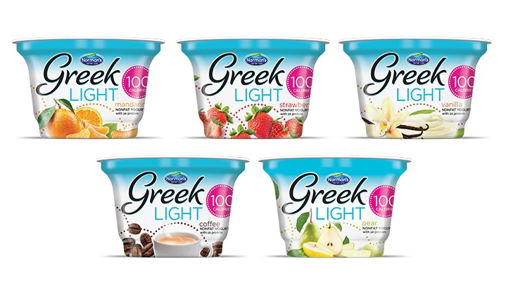 Branding - Packaging Design, Greek Light 100 Calorie Yogurt