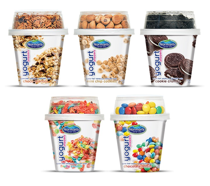 Packaging Design, Low Fat Norman's Poppers Yogurt
