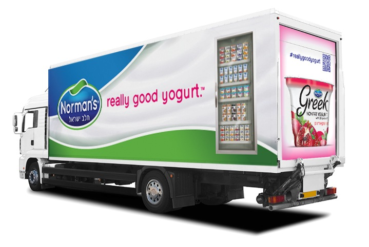 Refrigerated Truck Wrap for Norman's Dairy