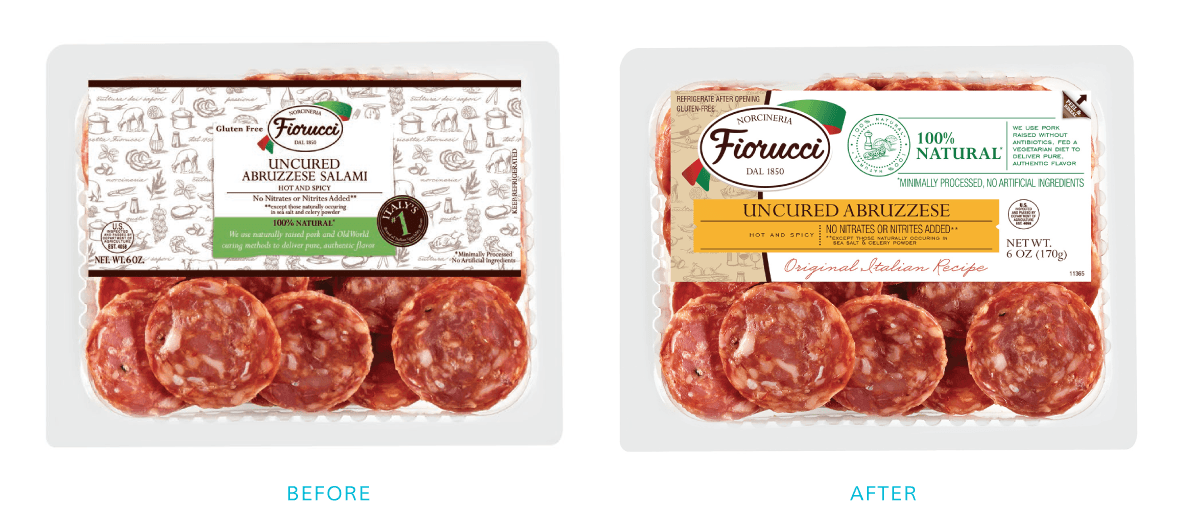 Before & After Packaging for Deli Meat