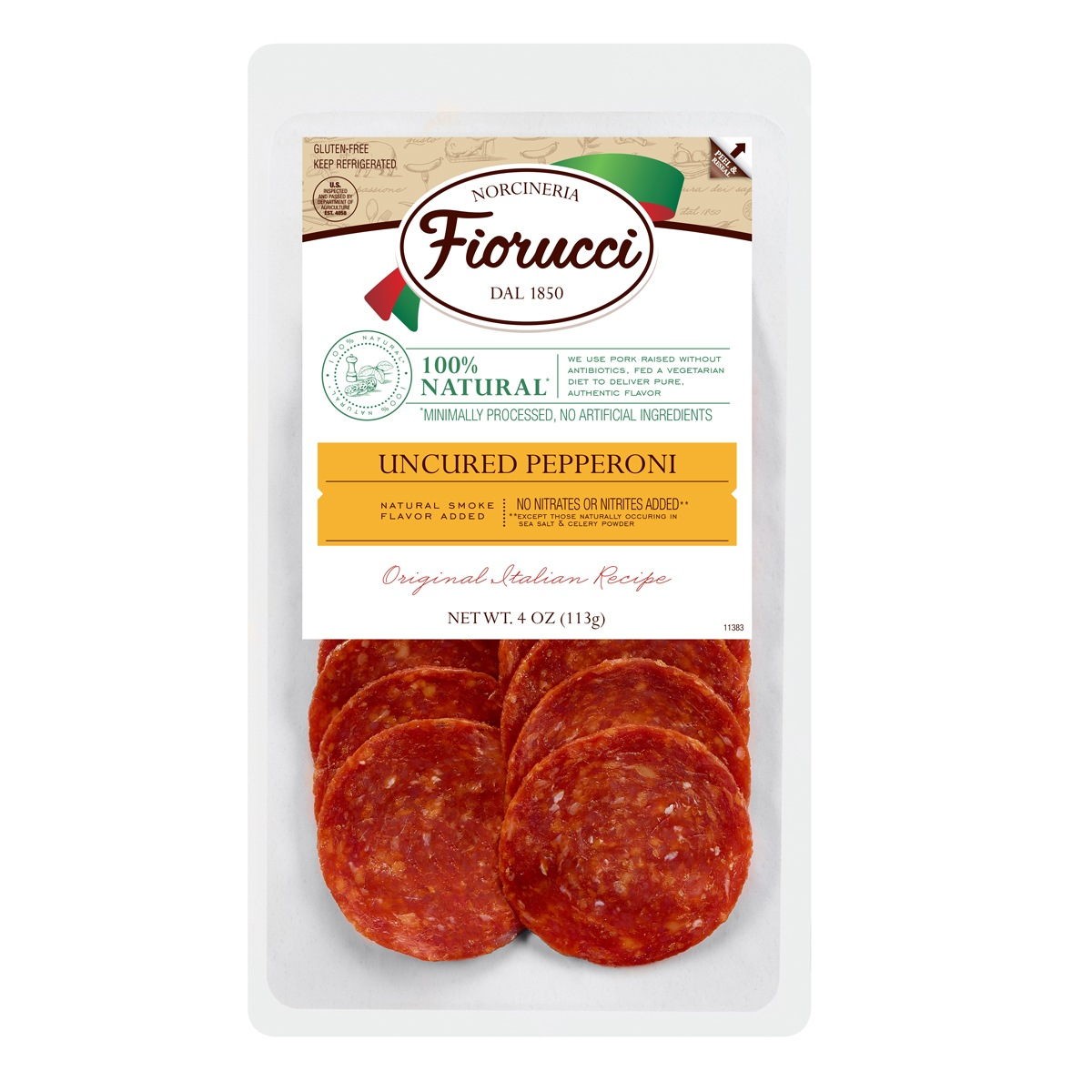 Fiorucci Foods™ Natural Deli Meat Packaging