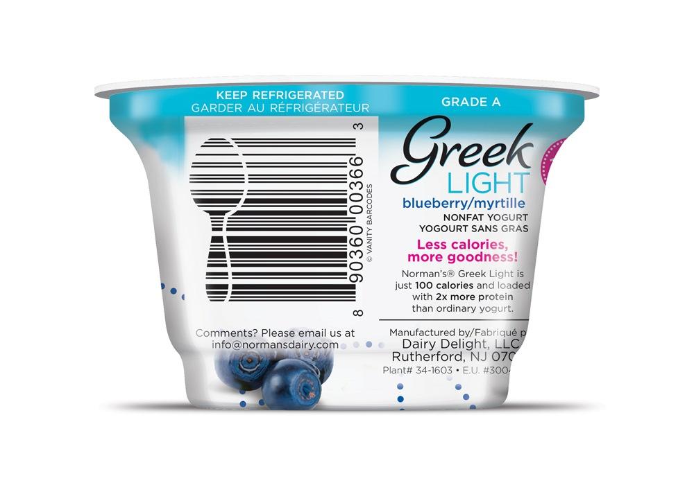 Branding - Vanity Barcodes Norman's Dairy Brand