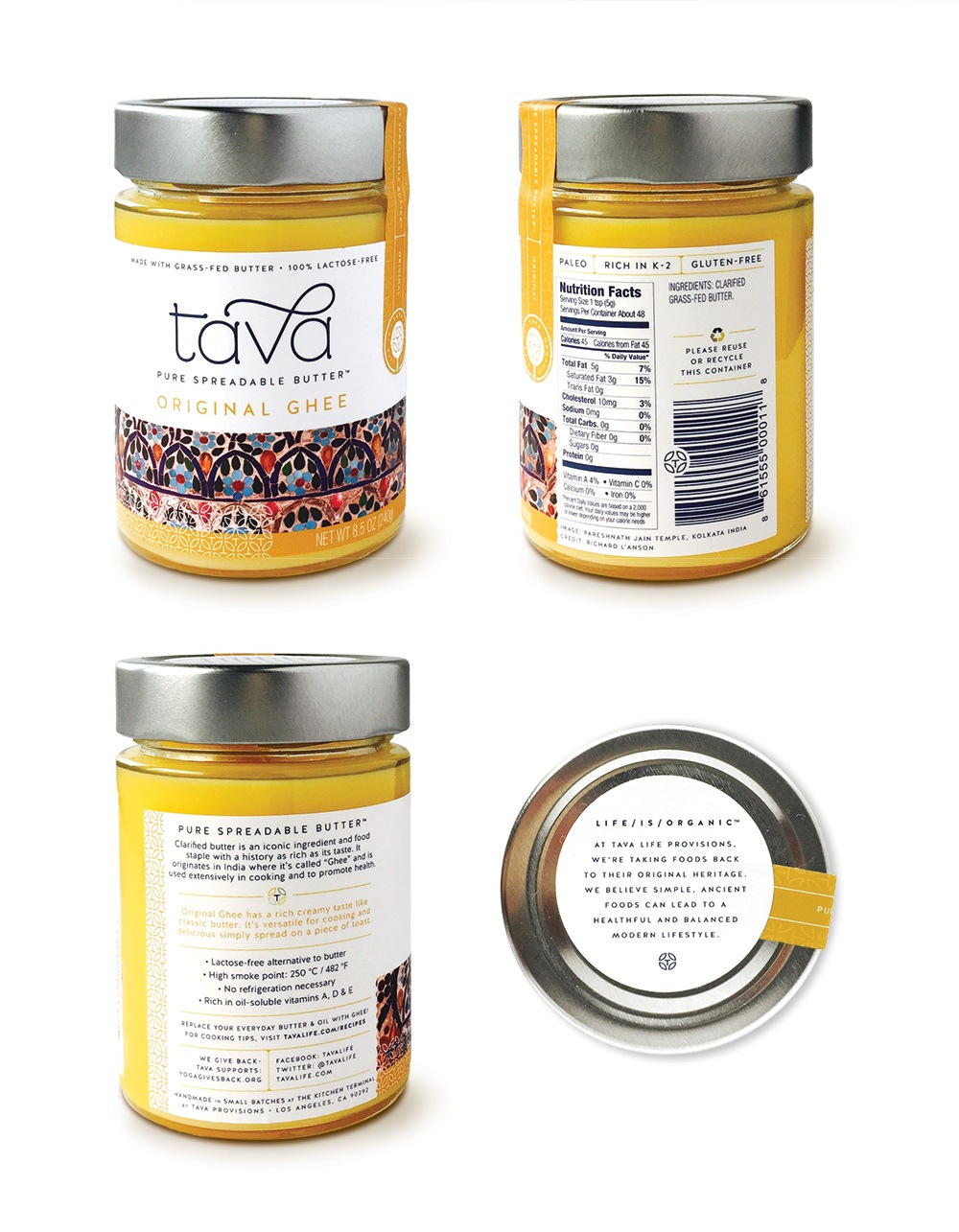 Tava Jars - Alternate Views Packaging Design