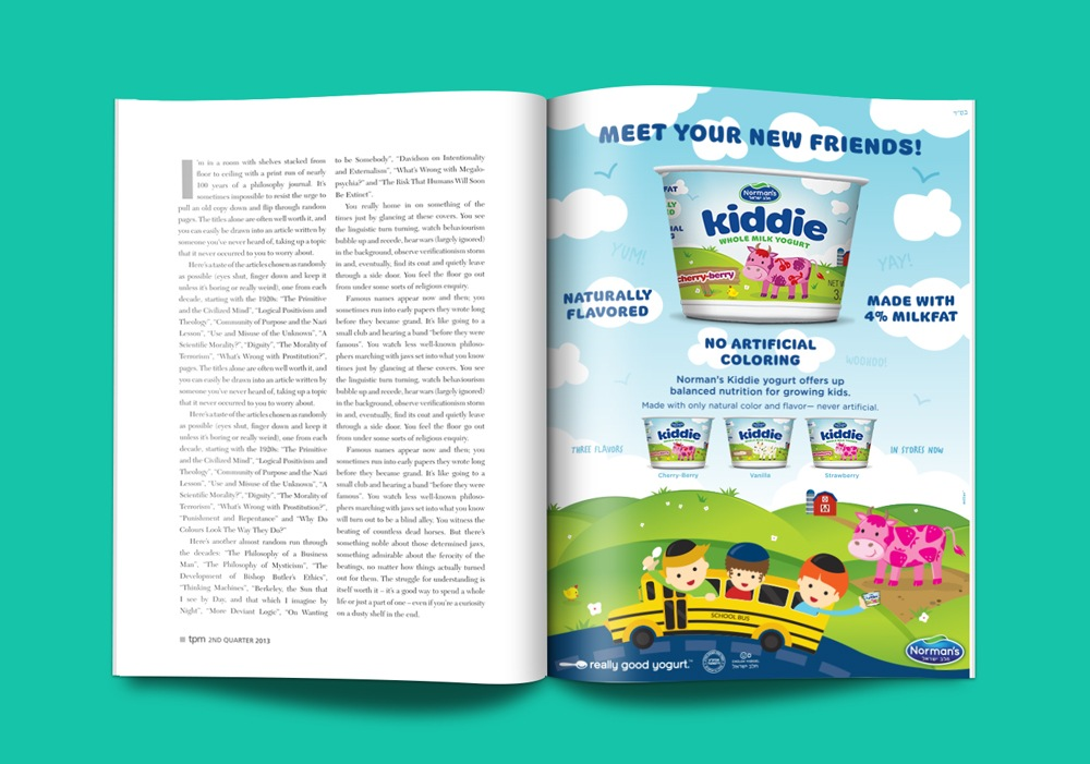 Norman's Kiddie Yogurt Ad Campaign