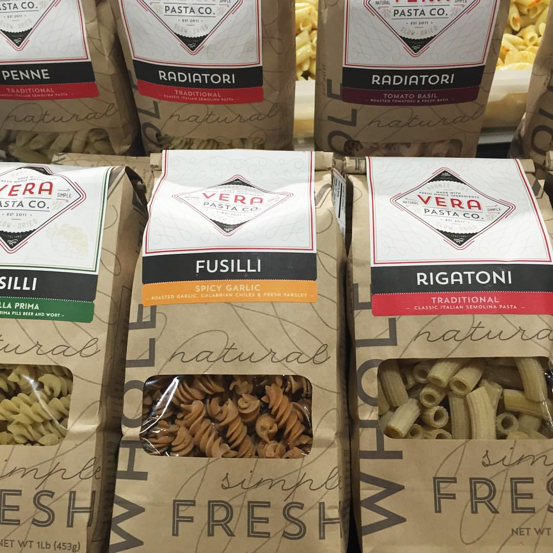 Vera Pasta - Packaging on Store Shelves