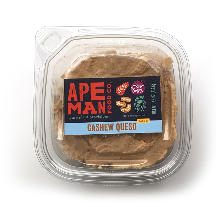Ape Man Foods Raw Paleo Vegan Cashew Queso Spread