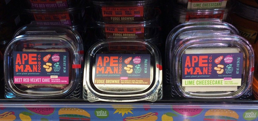 Ape Man Foods Packaging in Whole Foods