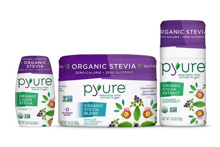 Pyure Sweeteners - Organic Stevia Dropper and Shakers