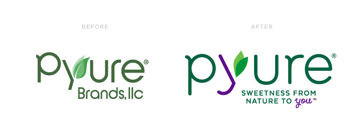 Pyure Logo Before and After