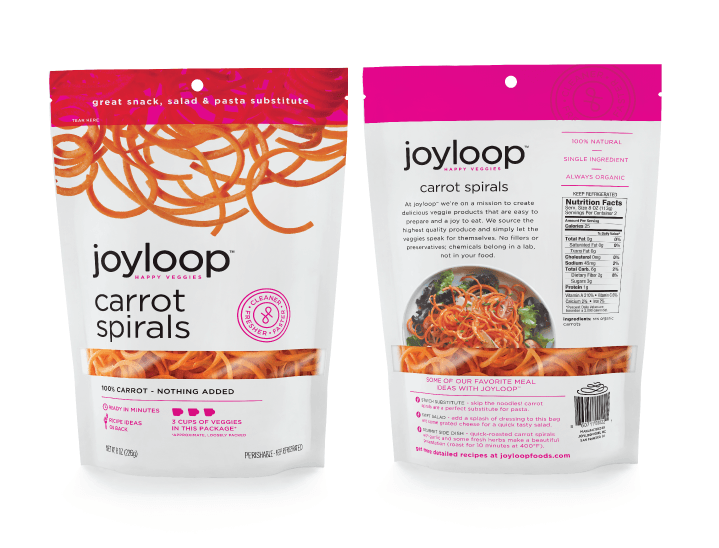 Joyloop Carrot Spirals - Packaging Design
