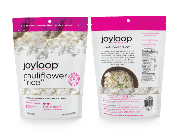 Joyloop Cauliflower Rice - Packaging Design