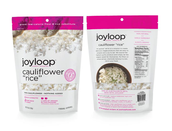 Joyloop Cauliflower Rice - Packaging Design