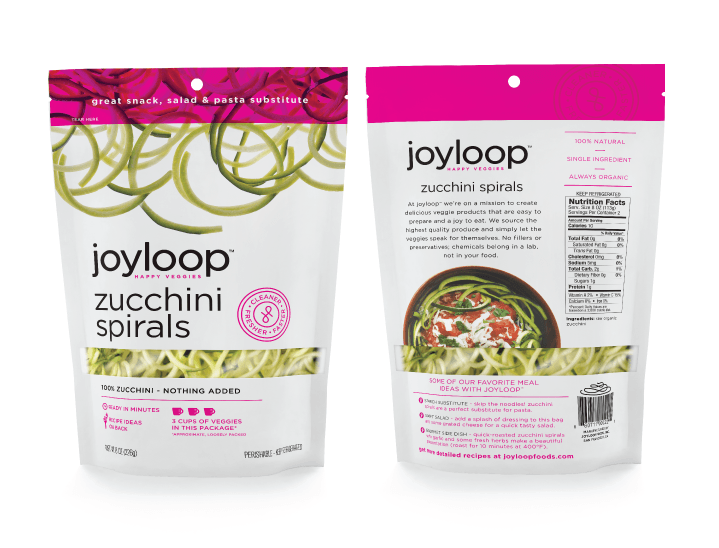 Joyloop Zucchini Spirals - Packaging Design