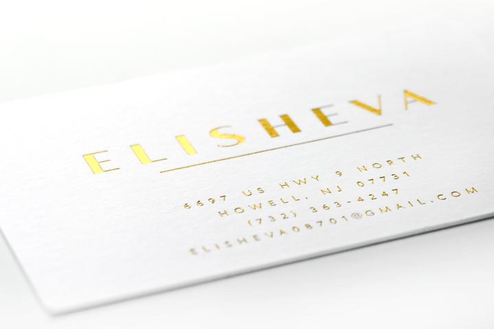 Elisheva Wigs Branding - Letterpress Card