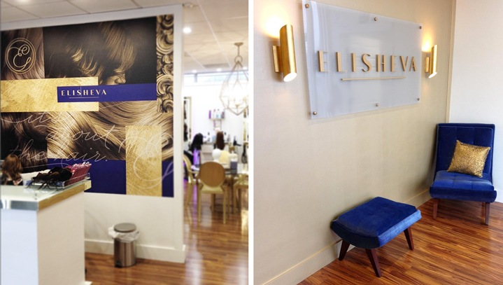 Salon Interior Branding