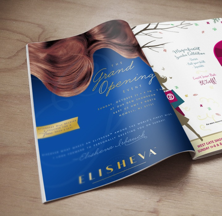 Grand Opening Ad Campaign for Elisheva Wigs