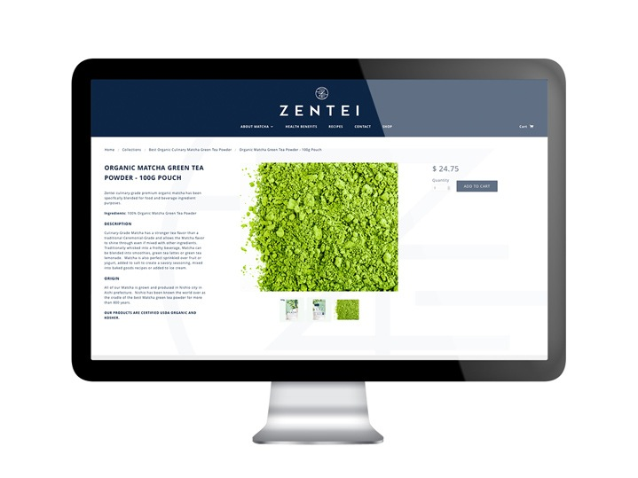 Zentei Matcha Website Design