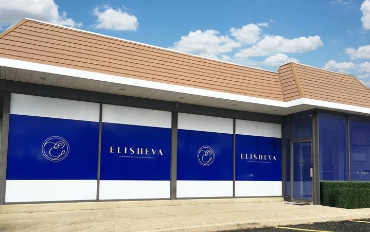 Elisheva Storefront Window Signage