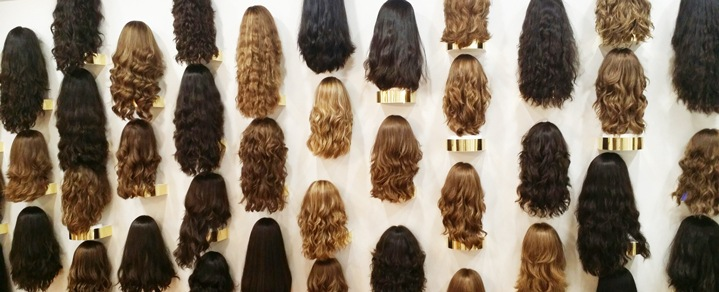 Elisheva Wigs Wall Display
