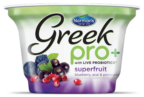 Norman's Greek Pro+ Yogurt Vibrant Packaging Design