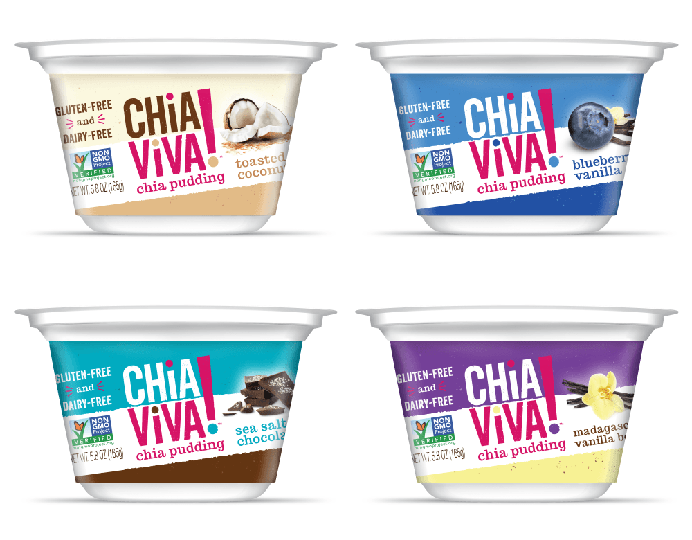 Branding and Packaging Design for Chia Viva Pudding by Miller