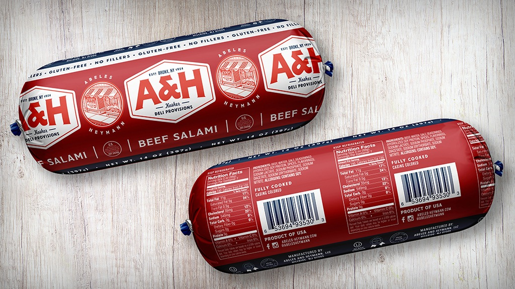 Abeles and Heymann Rebrand - Salami Packaging